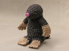 Meet Moser, a sweet and cuddly crochet version of the adorable looking creature, the mole. With this pattern you can make a very characteristic and playful mole doll.