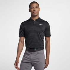 2f5913c36ee429 Nike Zonal Cooling Men s Camo Golf Polo Size 2XL (Anthracite)