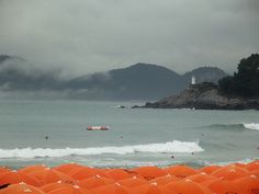 Haeundae beach in a rainy day,  Busan, South Korea by j.labrado, via Flickr