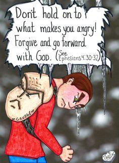 A grudge is a heavy burden to carry. www.facebook.com/GoodNewsCartoon