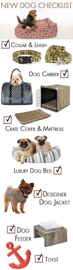 Spoil your new dog with luxury dog products from FelixChien.com! Browse everything from designer dog carriers, dog toys, dog crate covers and much more!