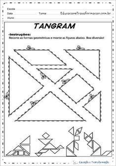 Tangram é um jogo divertido que estimula a memoria e a criatividade. Confira diversas sugestões de tangram para imprimir, e com modelos para colorir. Tangram, Christmas Cards, Activities, School, Serendipity, Handmade, Puzzle, English, Fun Math Activities