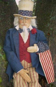 Uncle Sam Doll..wow doll designer did a fantastic job!
