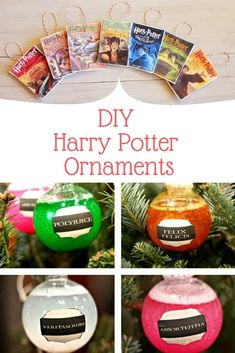 Diy Harry Potter Christmas Ornaments That'll Magic Up Your Tree Happy New Year Harry Potter Christmas Decorations, Harry Potter Christmas Ornaments, Hogwarts Christmas, Diy Christmas Ornaments, Christmas Ideas, Christmas Girls, Beaded Ornaments, Felt Christmas, Homemade Christmas