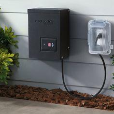 Shop Portfolio 200-Watt 12-Volt Multi-Tap Transformer Landscape Lighting Transformer with Digital Timer with Dusk-To-Dawn Sensor at Lowes.com
