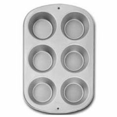 Jumbo Muffin Pan Non Stick by Wilton. $9.99. non-stick coating. Make super-size cupcakes and muffins. Recipe Right® is constructed of heavy-gauge steel that provides an even-heating performance, baking experts prefer for perfectly-browned baked goods. The non-stick coating makes food release and clean-up a breeze!