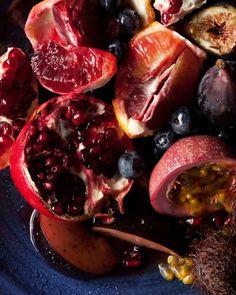 Beautiful fall fruit.  Love Pomegranates!