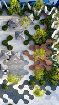 ASPECT studios completes the first stage of its playful 'hyperlane' Landscape And Urbanism, Landscape Design Plans, Landscape Architecture Design, Green Architecture, Urban Landscape, Espace Design, Architecture Concept Diagram, Public Space Design, Urban Furniture