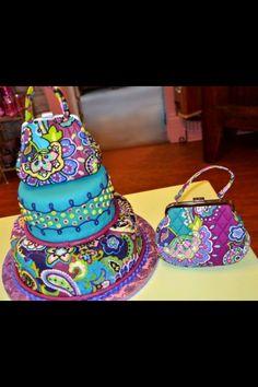 Vera Bradley cake Soooooooooooooooooooooooooooooooooo cool!!!