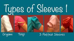 How to sew different types of sleeves