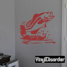 Bass Fish Wall Decal - Vinyl Decal - Car Decal - 005