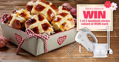 Hot cross buns with a twist!