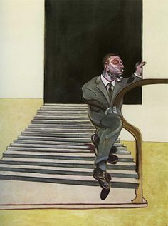 Man walking down the stairs 1972 Francis Bacon