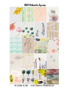 My Planner Envy: Watercolor Weekly Squares - Free Planner Printable...