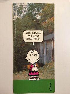 1970s Vintage HAPPY BIRTHDAY Charlie Brown Peanuts Snoopy Greeting Card Schulz