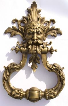 Bronzes De France   Way Cool Door Knocker!