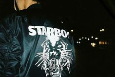 Starboy Panther Alpha Bomber Jacket Available Nov at Alpha Bomber Jacket, Selena Gomez The Weeknd, Abel The Weeknd, Beauty Behind The Madness, High Fashion, Mens Fashion, Skate Wear, Swagg, Fashion Addict