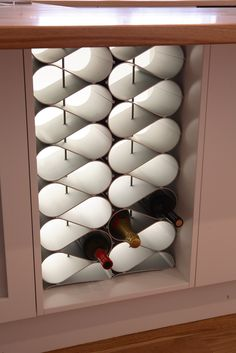 How convenient! The Echelon wine storage system's modular nature makes it ideal for building in under benches and counters, or into any nook and cranny! Turn space that would otherwise be wasted into a funky, practical wine cellar!