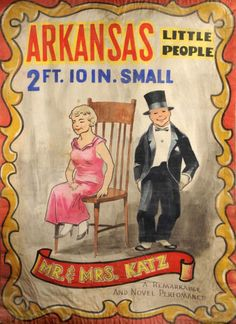Arkansas Little People Circus Banner (c1950s)