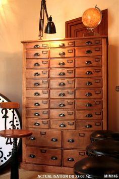 Drawer Shelves, Cabinet Drawers, Filing Cabinet, Primitive Furniture, Antique Furniture, Craft Closet Organization, Apothecary Cabinet, Workspace Inspiration, Find Furniture