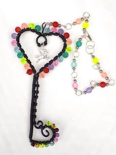 Wire key decorations. All custom made. With your own colour and designed uniquely for you.