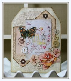 Butterfly Tag Card