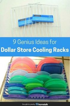 9 genius ideas for dollar store cooling racks dollar stores, dollar store hacks, dollar Organisation Hacks, Kitchen Organization, Kitchen Storage, Storage Organization, Storage Ideas, Dollar Store Organization, Storage Rack, Cheap Storage, Organizing Ideas