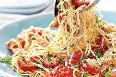 Canadian Living - Seared Cherry Tomato Pasta, fast & easy summer meal. June 2012