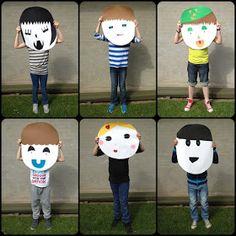 Almost-Art: Mega ansigter - nu som færdige billeder Kids Art Class, Art For Kids, Crafts For Kids, Arts And Crafts, Art Activities For Kids, Montessori Activities, Creative Workshop, Creative Art, Kindergarten Art Projects