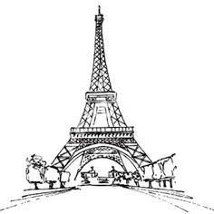 paris france coloring pages | free printable coloring page notre ... - France Eiffel Tower Coloring Page