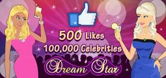 Over 100,000 players are living the Celebrity Life in 'Dream Star', acting in movies, honing their acting skills and aiming for that exclusive Star Walk of Fame!          'Like' us on www.facebook.com/DreamStarGame to learn more!