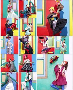 Season 1 - Episode 1 Contact Sheet of Quirky in Little India High Fashion Photography, Editorial Photography, Asia's Next Top Model, Contact Sheet, Editorial Fashion, Latest Fashion, Vibrant, Photoshoot, Poses