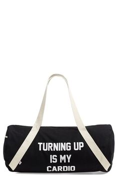 Private Party 'Turning Up Is My Cardio' Duffel Bag available at #Nordstrom