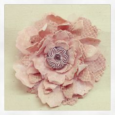 Made from Tim Holtz Tattered Flowers Die