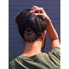 I love when my clients bring in inspiration and it's just that. Inspiration!! They allow me to be inspired by a picture but to add my own creative touch! #undercut #undercutdesign #undercutnation #peekaboo #hair #freehand #hair #hairart #beautylaunchpad #modernsalon #behindthechair #btc #fiidnt #buzzcut #sharpfade