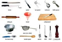 208 Best Kitchen Vocabulary Images On Pinterest English Classroom