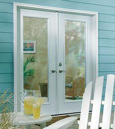 ODL Clear door glass - Clear glass in double garden door www.homedecorwindowsanddoors.com