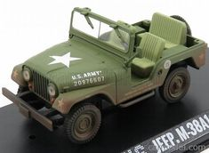 GREENLIGHT 86311 Scale 1/43  JEEP WILLYS M38 A1 USA ARMY 1952 - PERSONAL CAR ELVIS PRESLEY MILITARY GREEN
