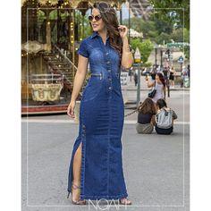 Jean Dress Outfits, Demin Dress, Shirt Dress, Boho Summer Outfits, Long Summer Dresses, Chic Outfits, Abaya Fashion, Denim Fashion, Fashion Dresses