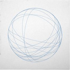 Contour circle to create the outline of the sphere then uses line to create structure and a 3D look to the sphere.