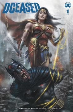 Injustice writer Tom Taylor returns to DC Comics for a miniseries which sees bio-engineered zombies overrun the DC Universe. A few variant covers are inspired by It, The Nun and Freddy Krueger. Batman Wonder Woman, Wonder Woman Art, Marvel Girls, Comic Book Characters, Comic Books Art, Captain Marvel, Marvel Dc, Chacun Son Tour, Univers Dc