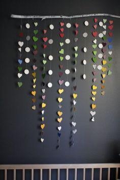 movil de corazones