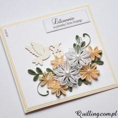 quilling, husking, handmade, DIY, craft, greeting card, paperart, baptism, quilling.com.pl