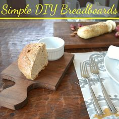 DIY Home Decor | Turn a piece of scrap wood into a DIY bread board!