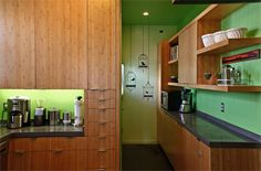 love the green and wood color