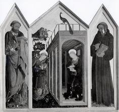 Bartolomeo da Miranda - sec. XV - Annunciazione; San Pietro; Sant'Eleuterio di Spoleto—insieme