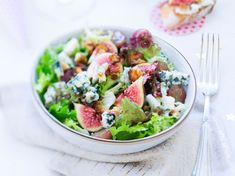 Salade raisins et roquefort