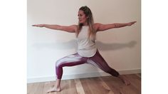 Kathryn Budig's Moving Meditation: using mantras with a simple dancing warrior flow