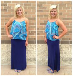 This blue tank screams caribbean! This blue is beautiful! Go get your tan on!