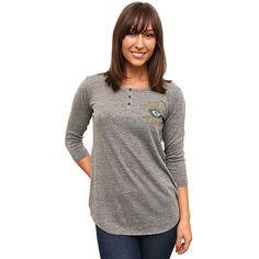 Women's Junk Food Green Bay Packers Half Time Triblend Henley T-Shirt - NFLShop.com